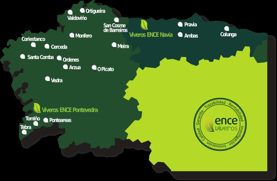 Mapa de centros Ence